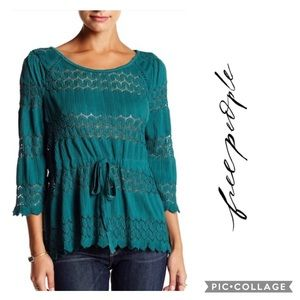 NWT-Free People | Fire Island Blouse~L